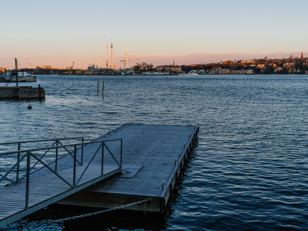 Dock on the front of Elite Marina Tower, Stockholm