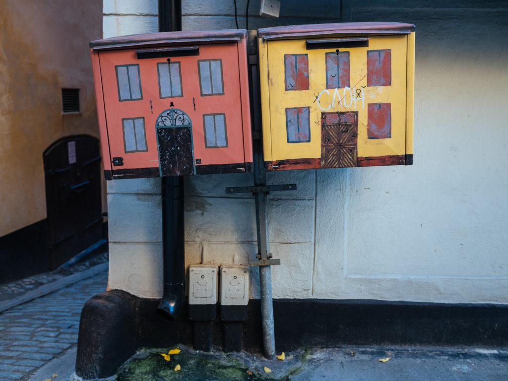 Boites aux lettres à l'éfigie de Stortorget, Stockholm