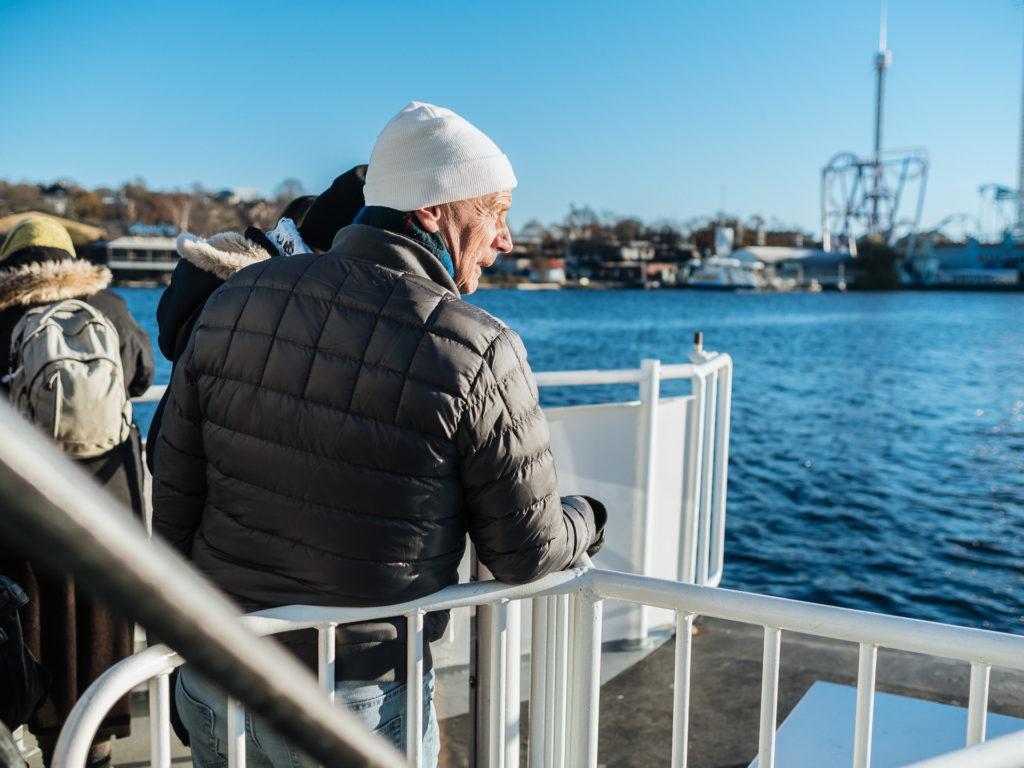 Bateau vers l'île de Djugården, Stockholm