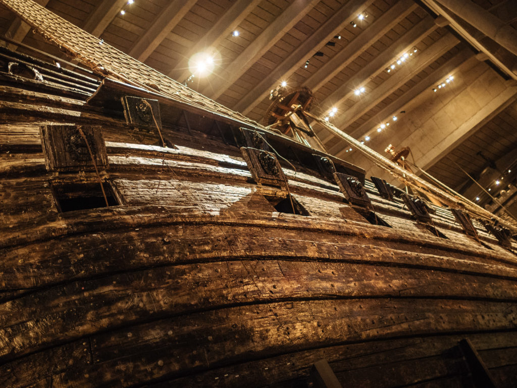 Cannon doors on the Vasa ship, Stockholm