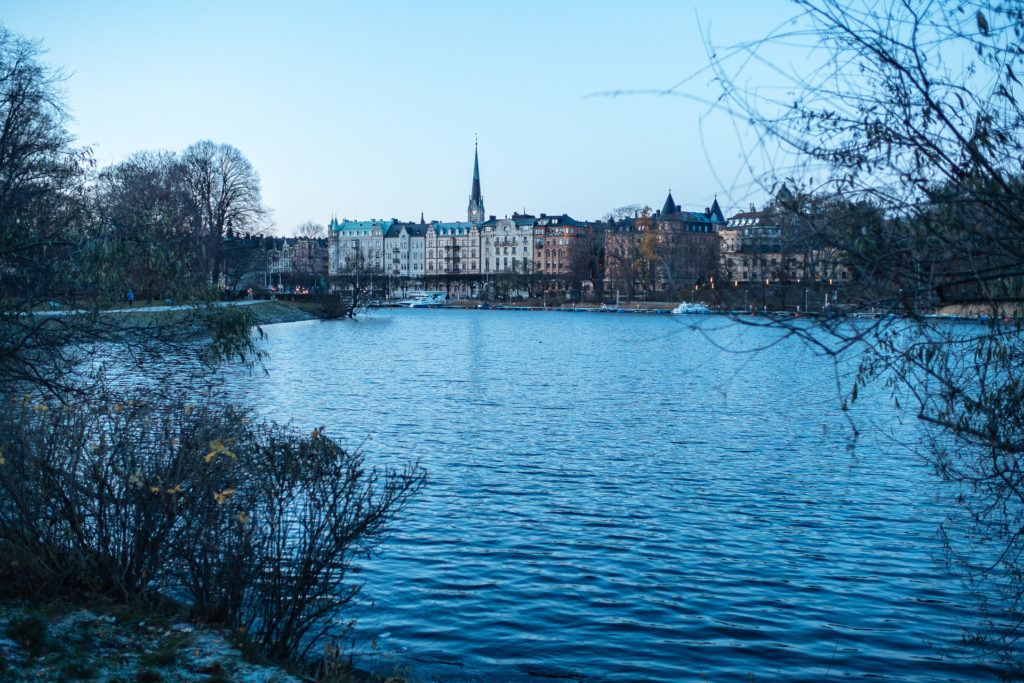 View of the lake and trees, Stockholm