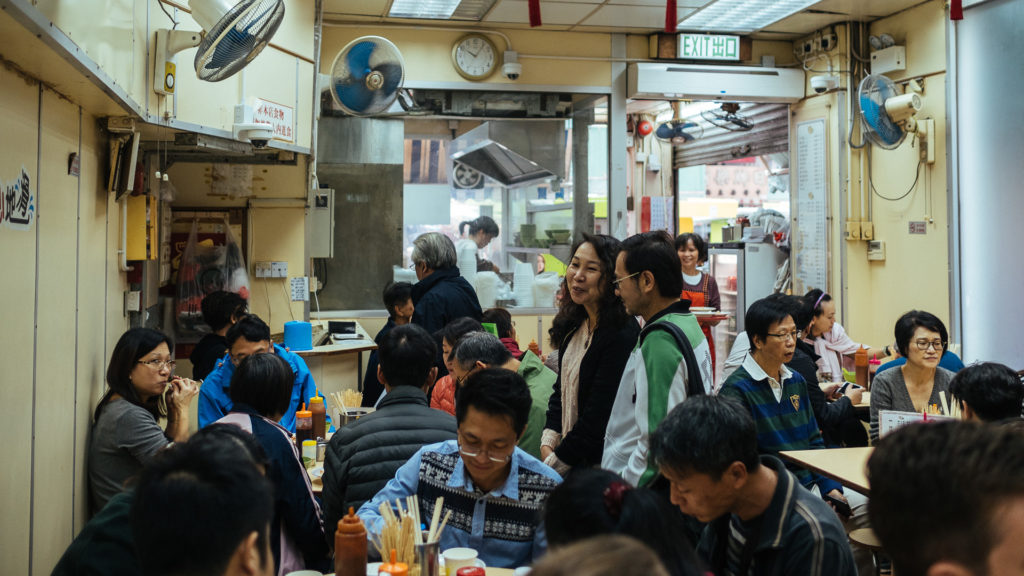 People waiting for a table, Hong Kong
