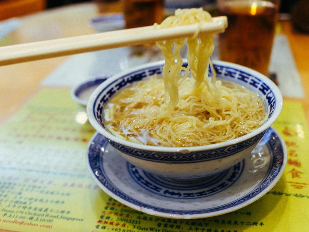 Noodles and chopsticks, Hong Kong