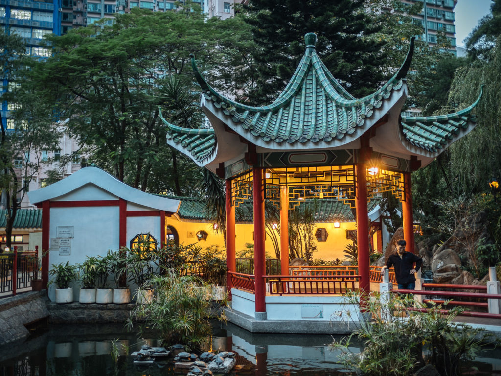 Traditional kiosk in the city center of Hong Kong