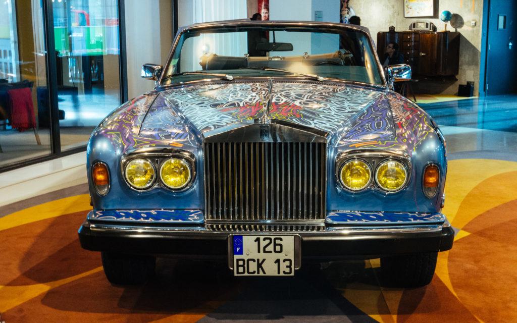 Rolls Royce d'Eric Cantona relookée par JonOne