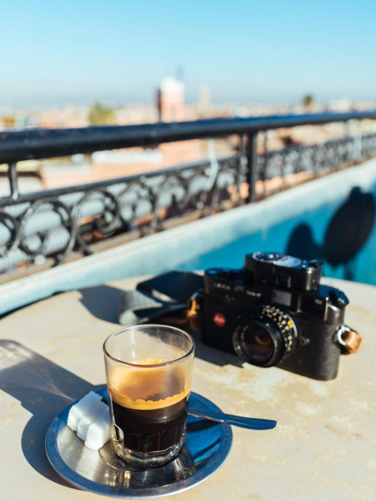 Café en terrasse, Marrakech