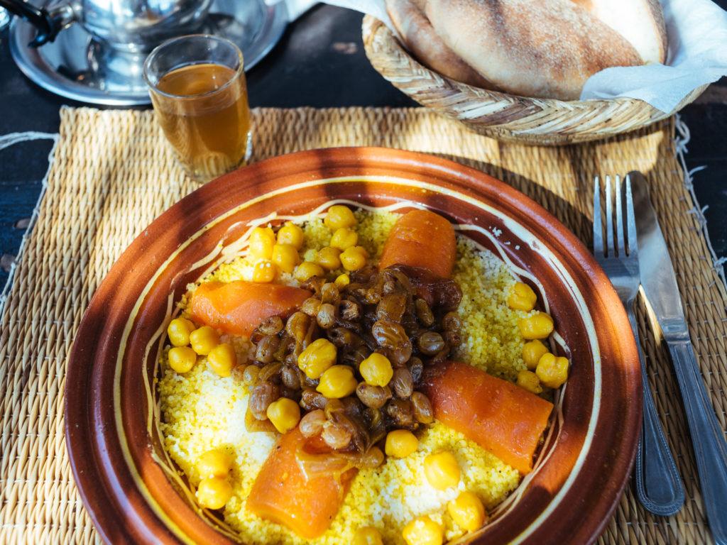 Couscous végétarien, Musée de la photographie à Marrakech