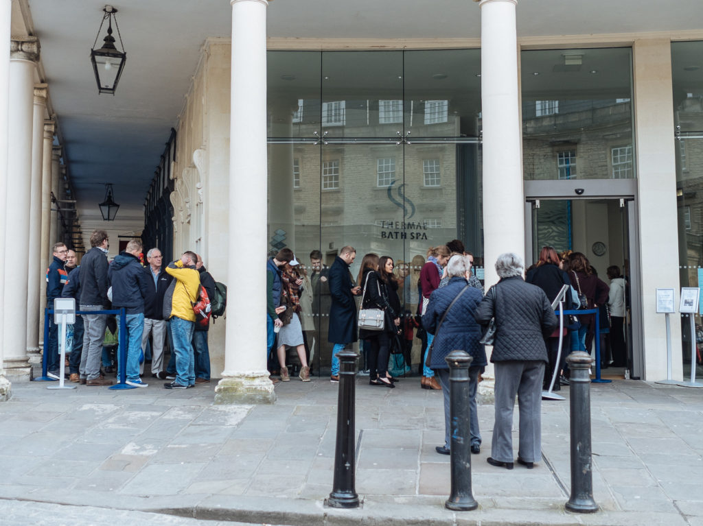 Waiting line, Thermae Bath Spa