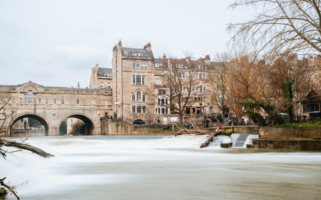 Pulteney bridge from the Parade Gardens, Bath