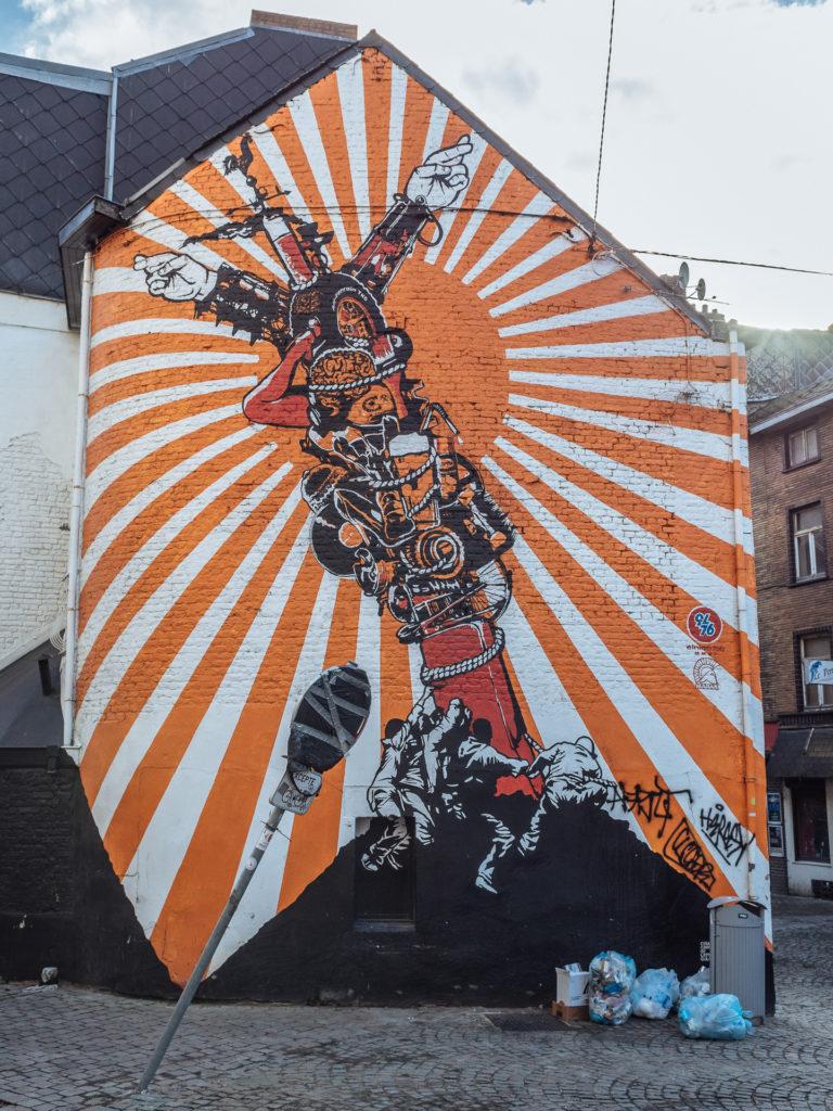 Street art by Marax, Charleroi