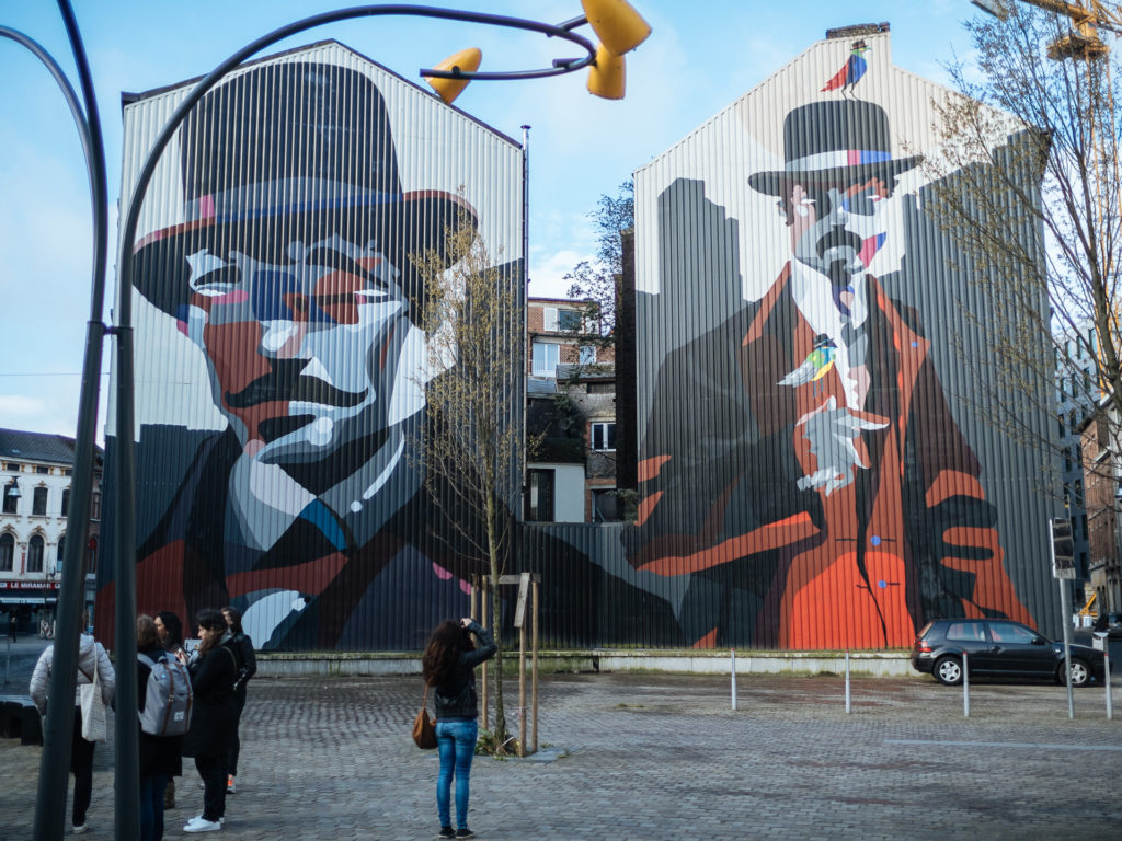 Fresque près de la rue du Moulin, Charleroi