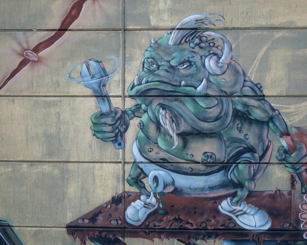 Goblin, street art, Charleroi