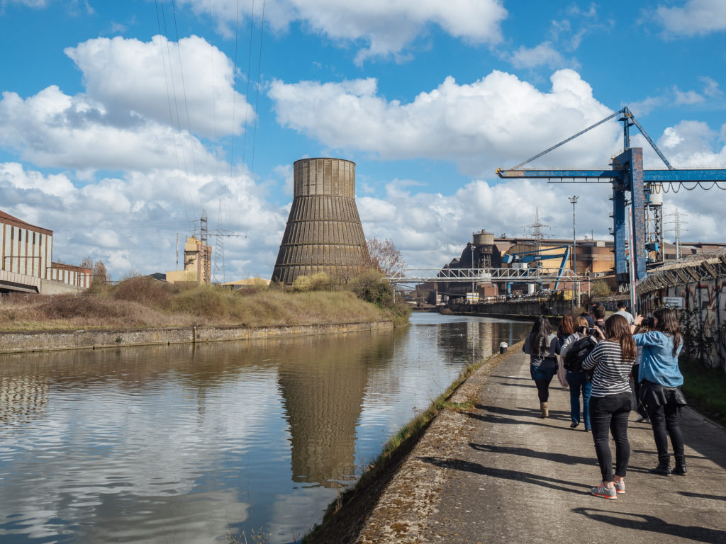 Friches industrielles le long de la Sambre, Charleroi