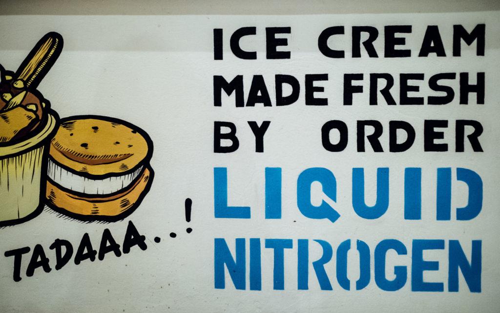 Ice cream made fresh by order, Creamery, Canggu