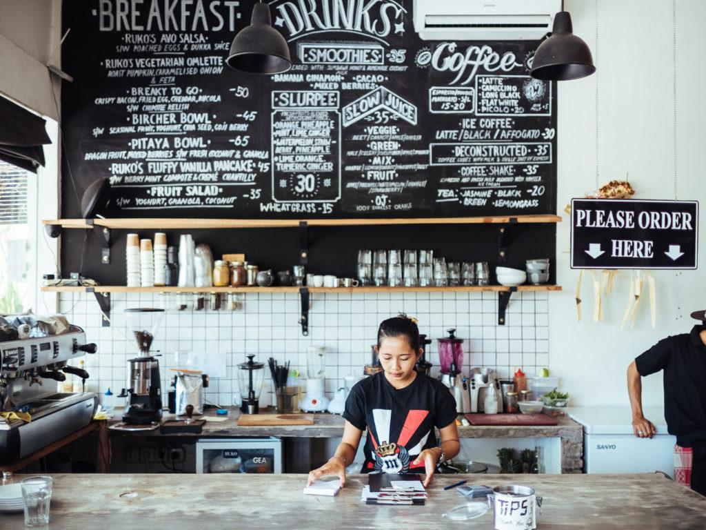 Order here, Ruko Cafe, Canggu
