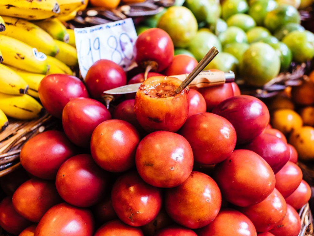 Tamarillo ou maracuja tomate, Mercado dos Lavradores, Funchal