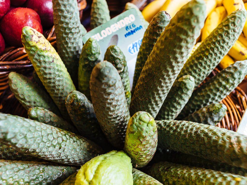 Monstrosa deliciosa ou ananas-banane, Mercado dos Lavradores, Fu