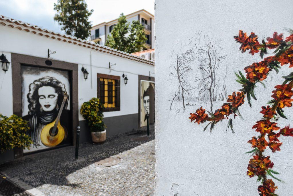 Street art dans la vieille ville de Funchal