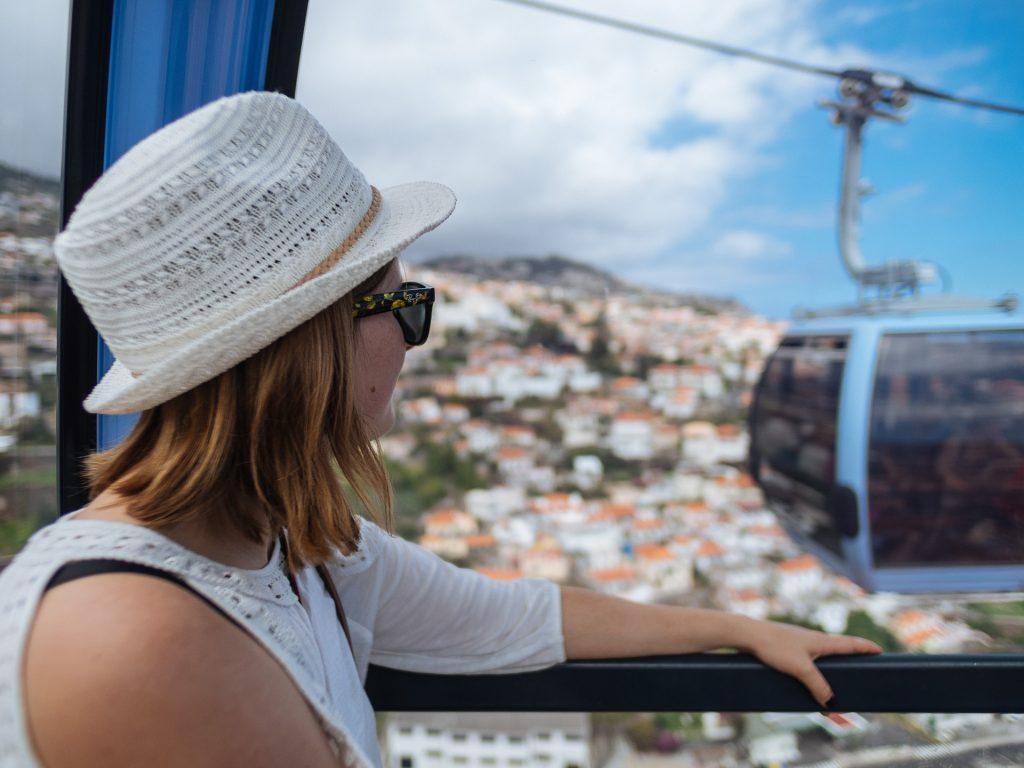 Fred dans le téléphérique de Funchal