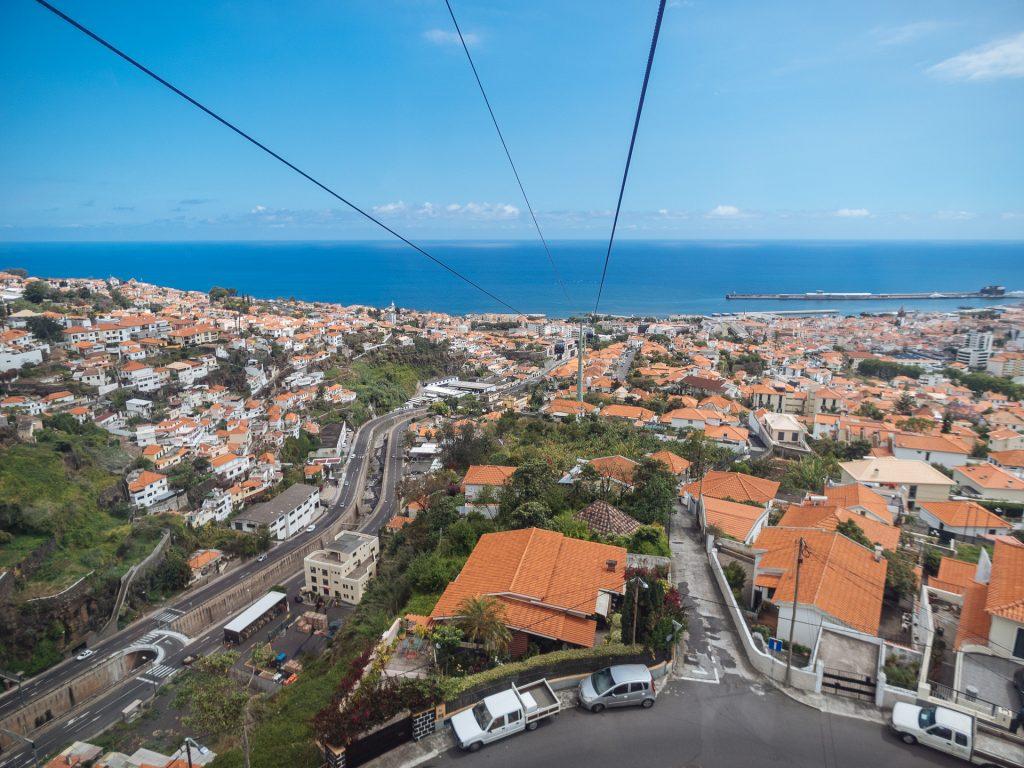 Vue de Funchal depuis le téléphérique