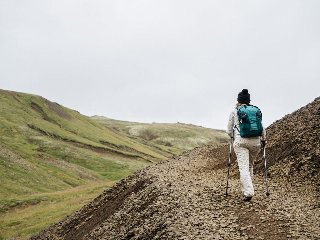 Fred marche vers la Reykjadalsa