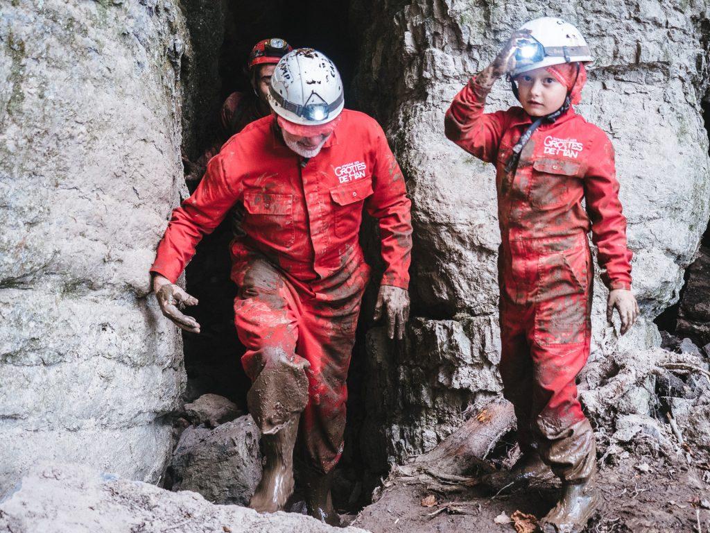 Initiation à la spéléo, Grottes de Han