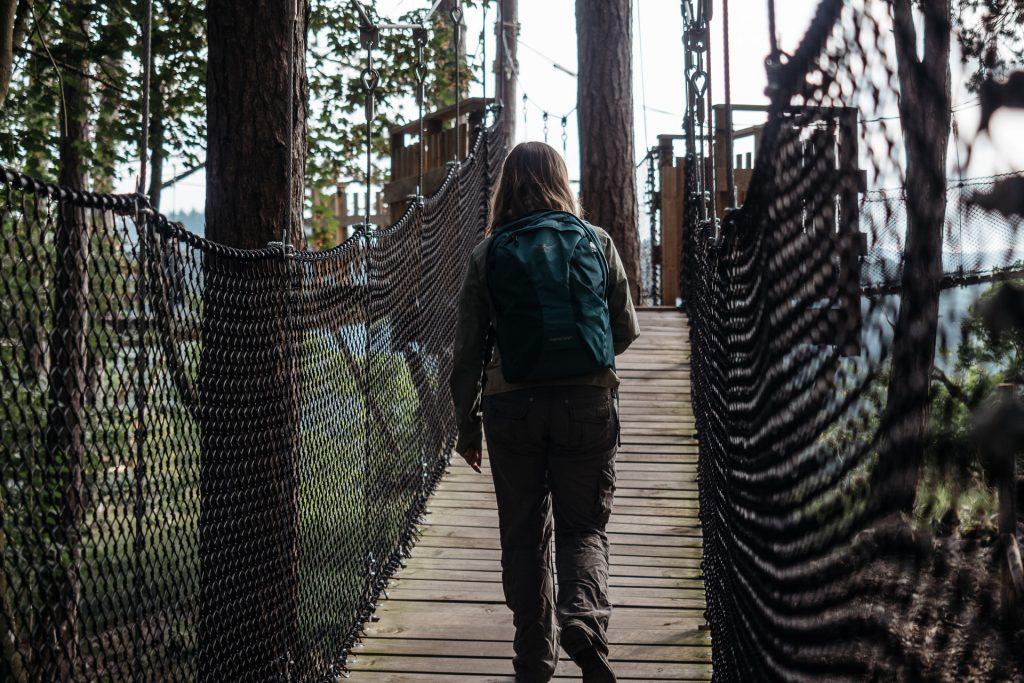 Promenade sur la canopée, Domaine des Grottes de Han