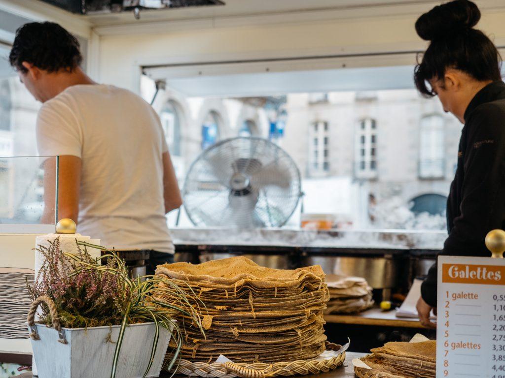 Galettes, Marché des Lices, Rennes