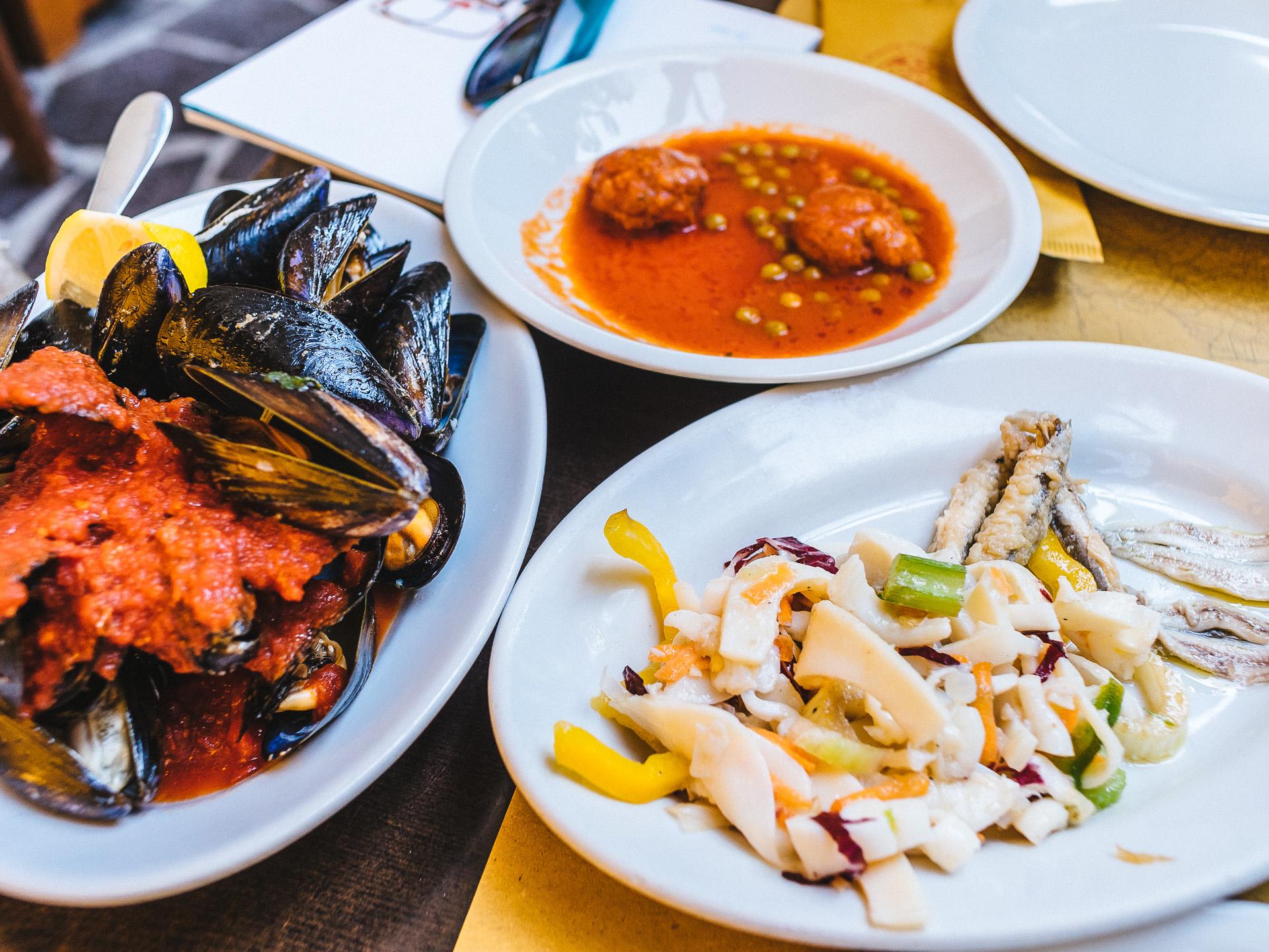Fruits de mer, La Pantofla, Cervia