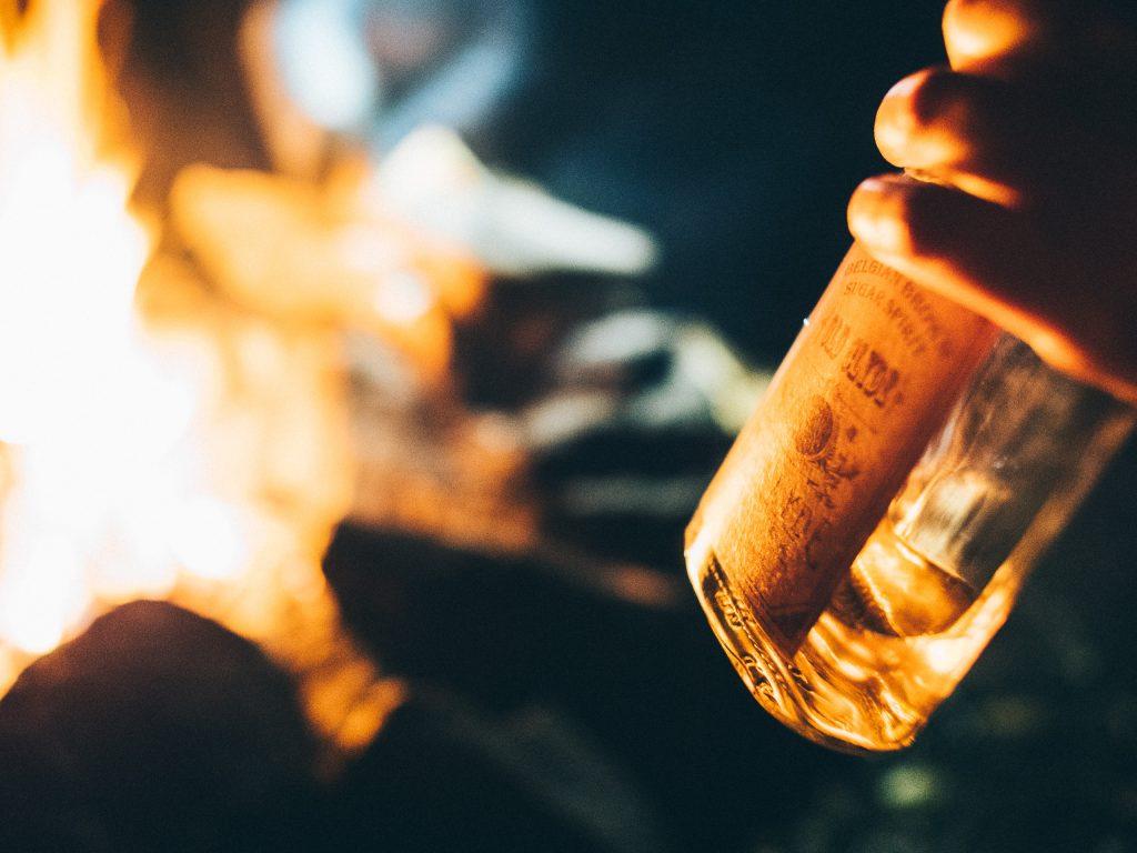 Dégustation d'Old Clyde au coin du feu