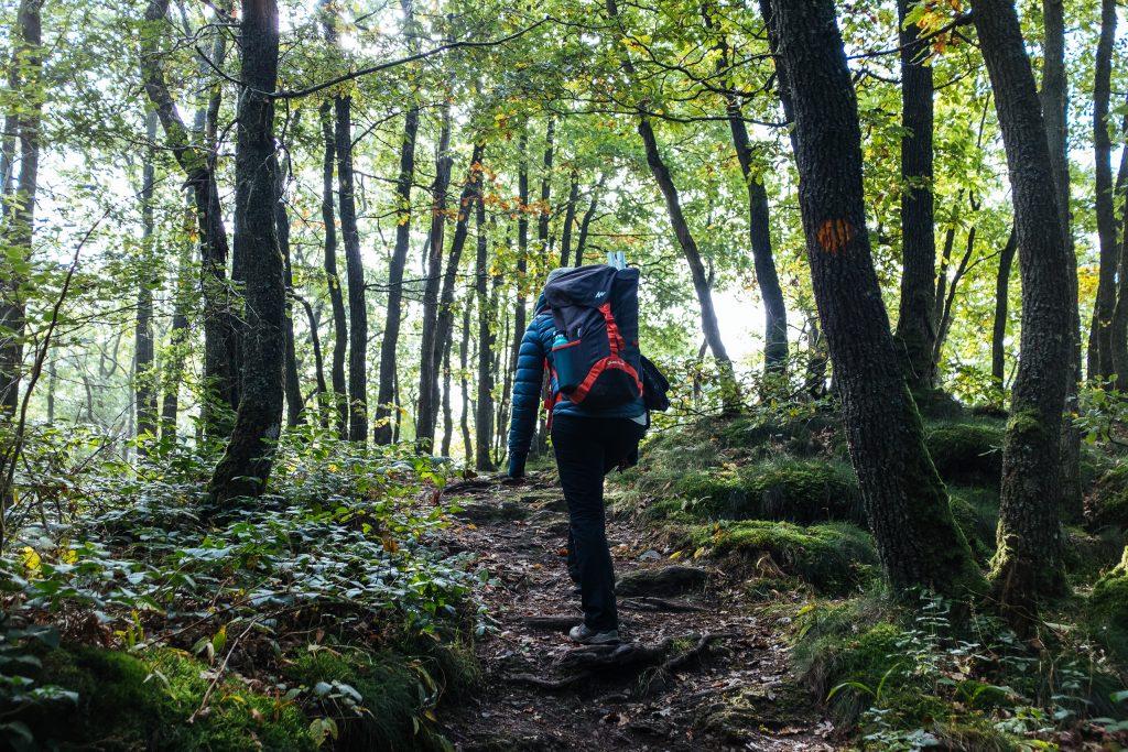 Randonnée en Ardenne avec packraft