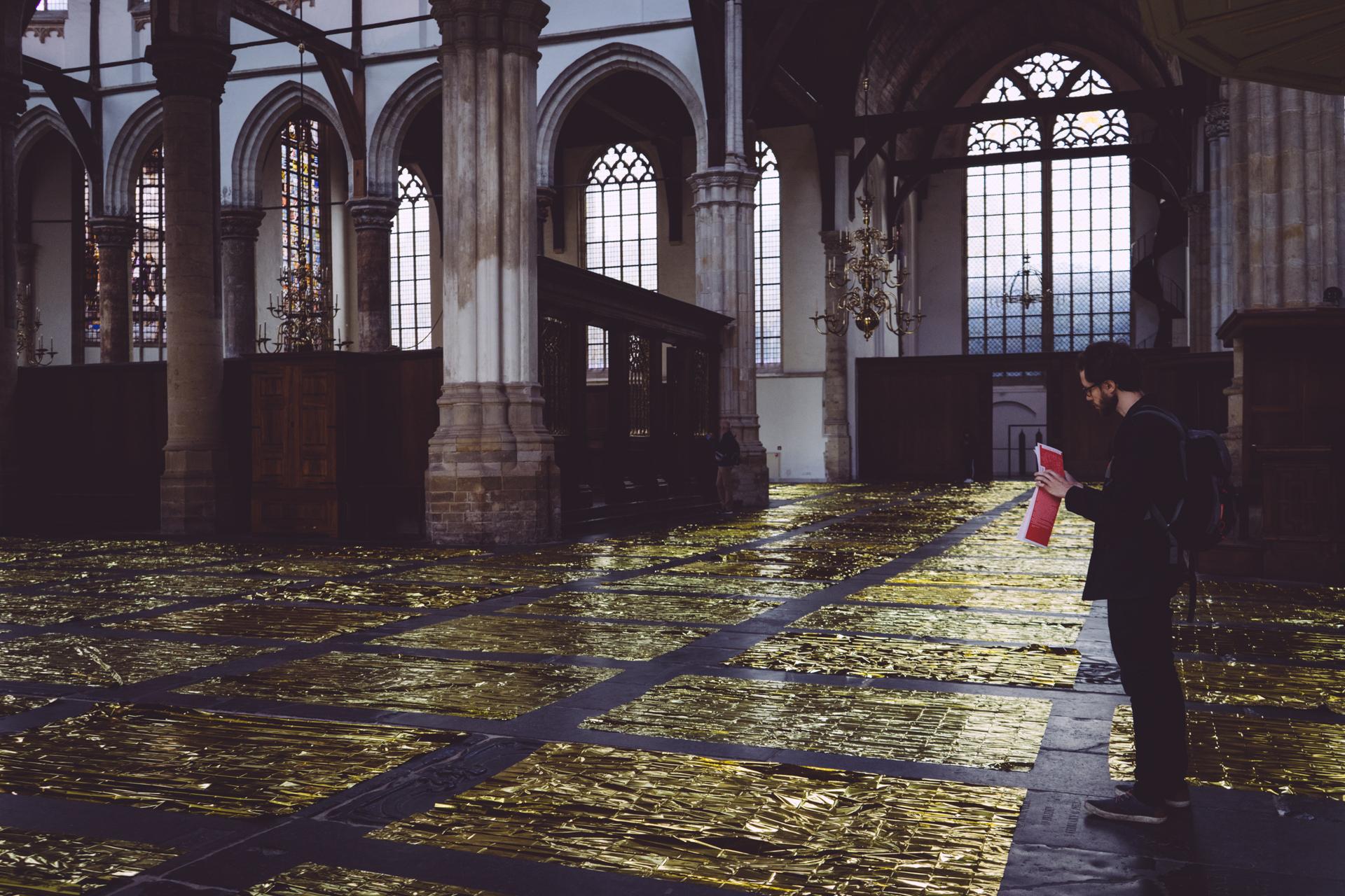 Installation artistique dans la Oude Kerk
