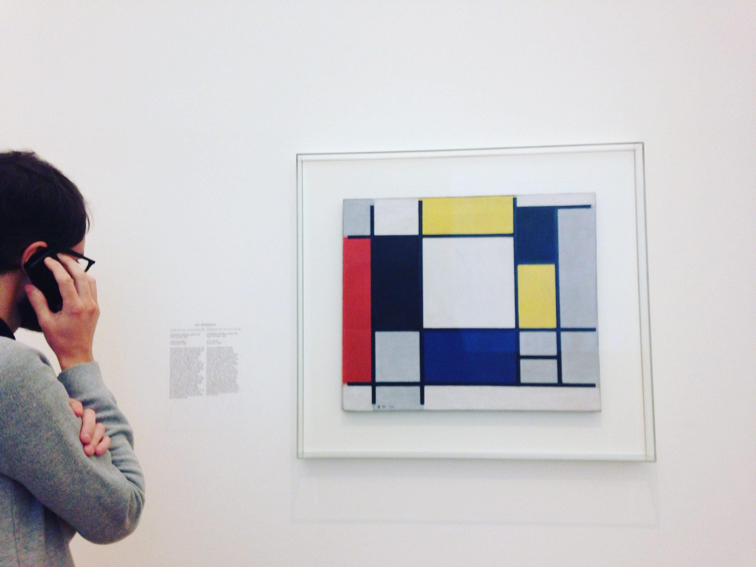 Tableau de Piet Mondriaan au Stedelijk Museum d'Amsterdam