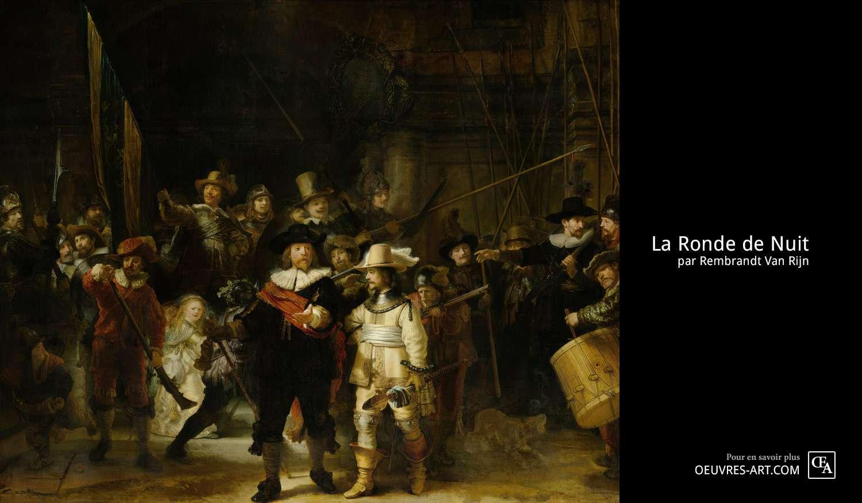 Tableau La ronde de nuit de Rembrandt
