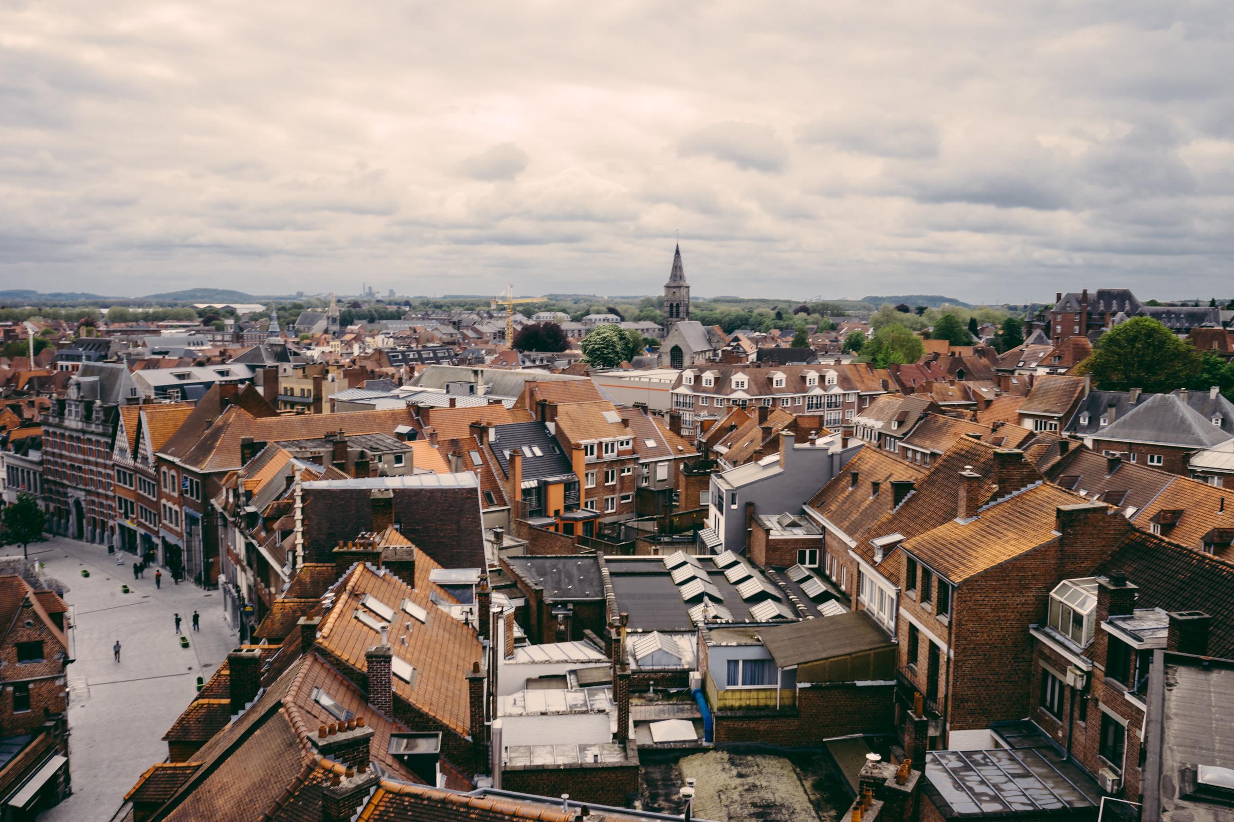 Vue depuis le premier étage du Beffroi de Tournai