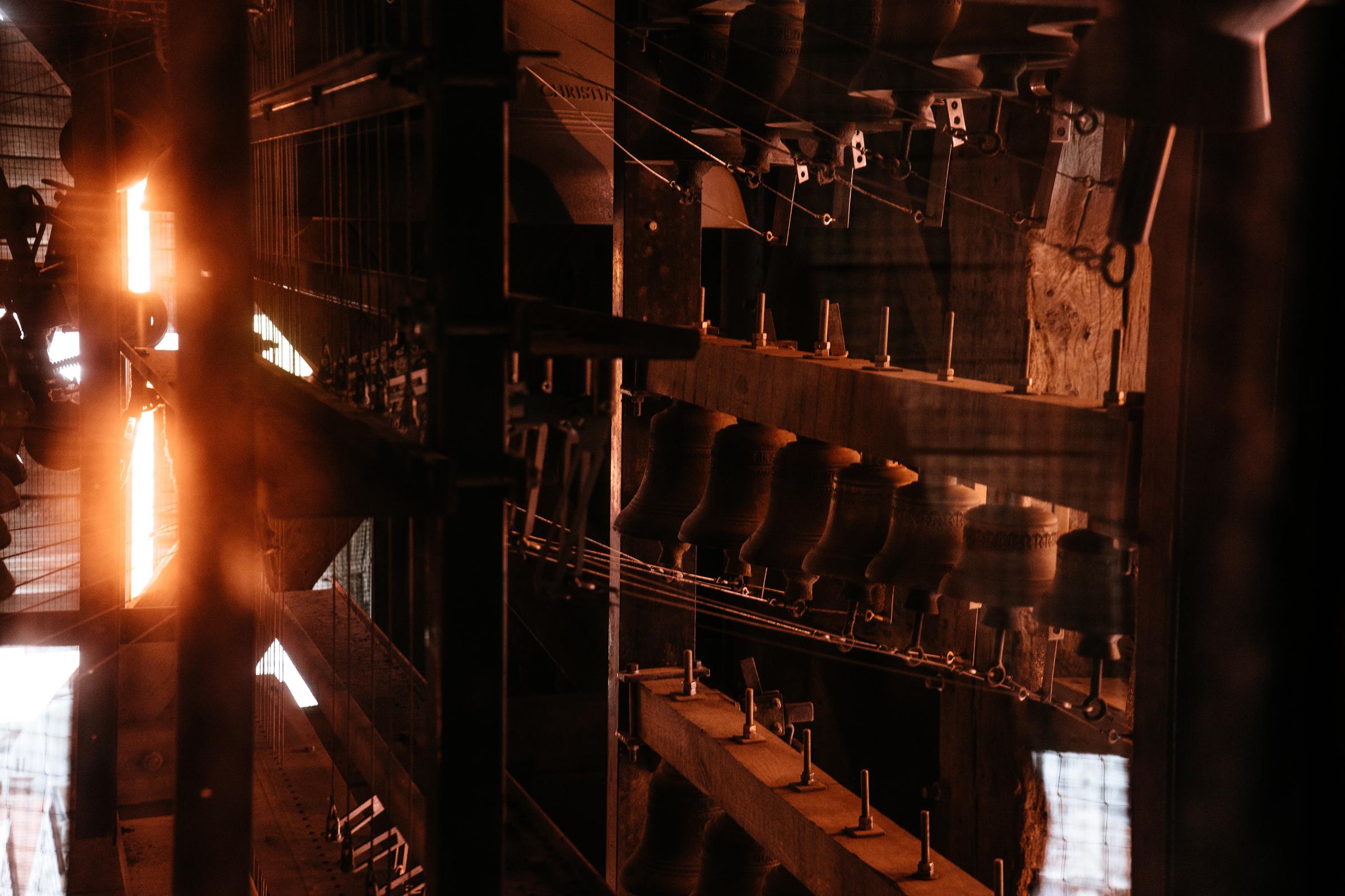 Les cloches du carillon du Beffroi de Tournai