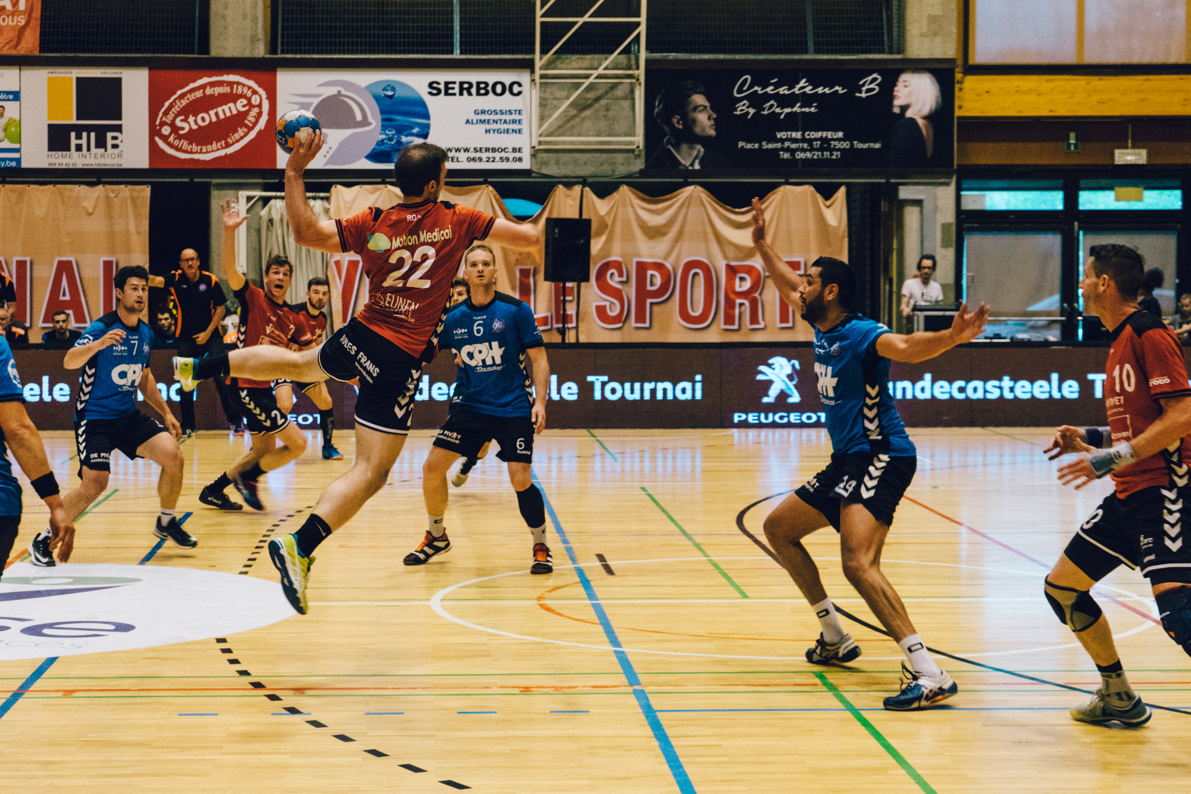 Match de l'Estudiantes Handball Club de Tournai