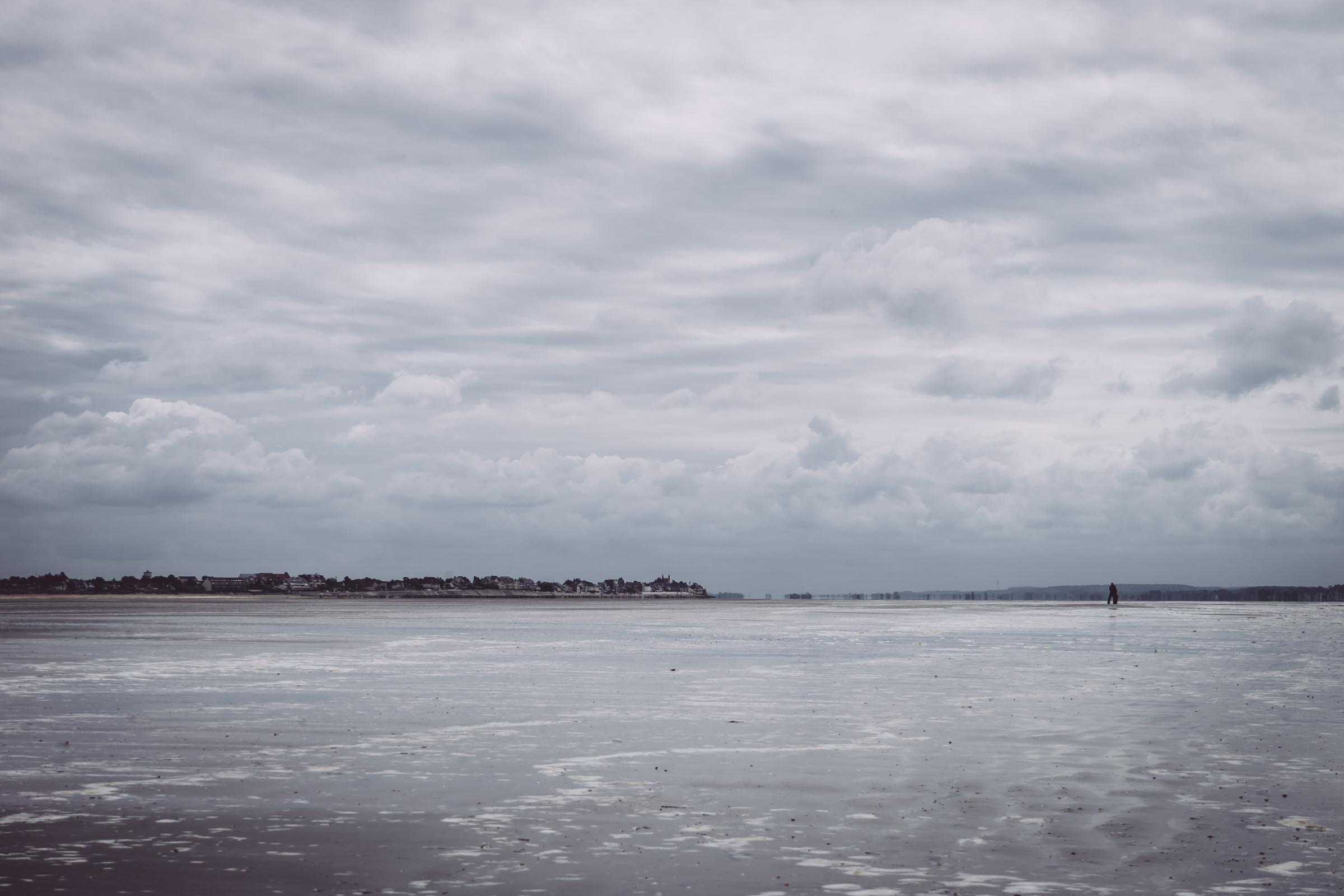 Paysage entre ciel et mer de Baie de Somme