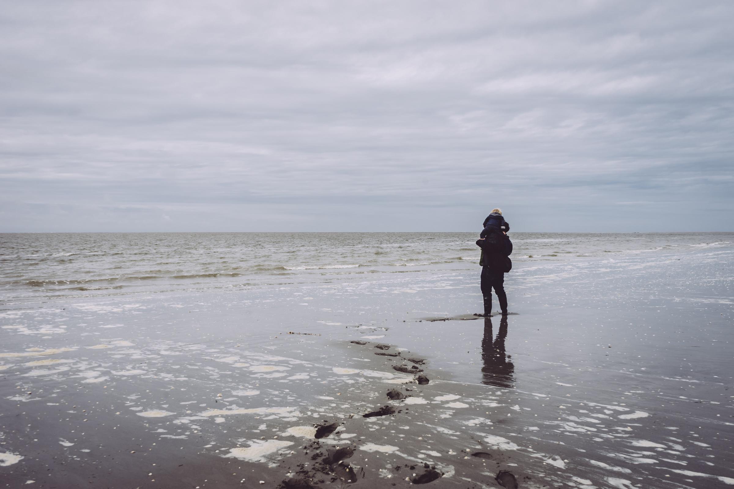 Les pieds dans l'eau en Baie de Somme