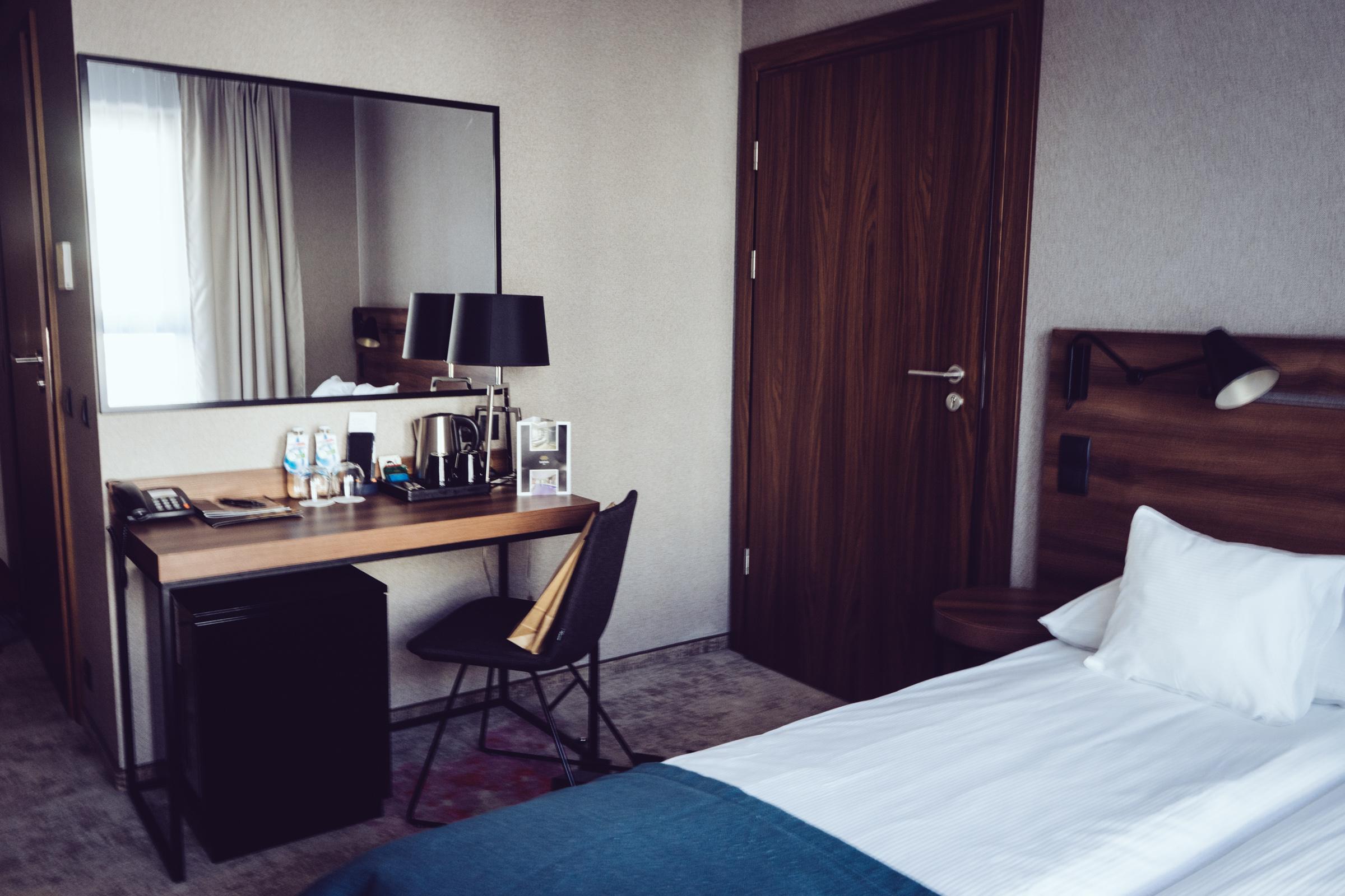 À l'intérieur de ma chambre à l'hôtel Sadova - Gdansk - Pologne