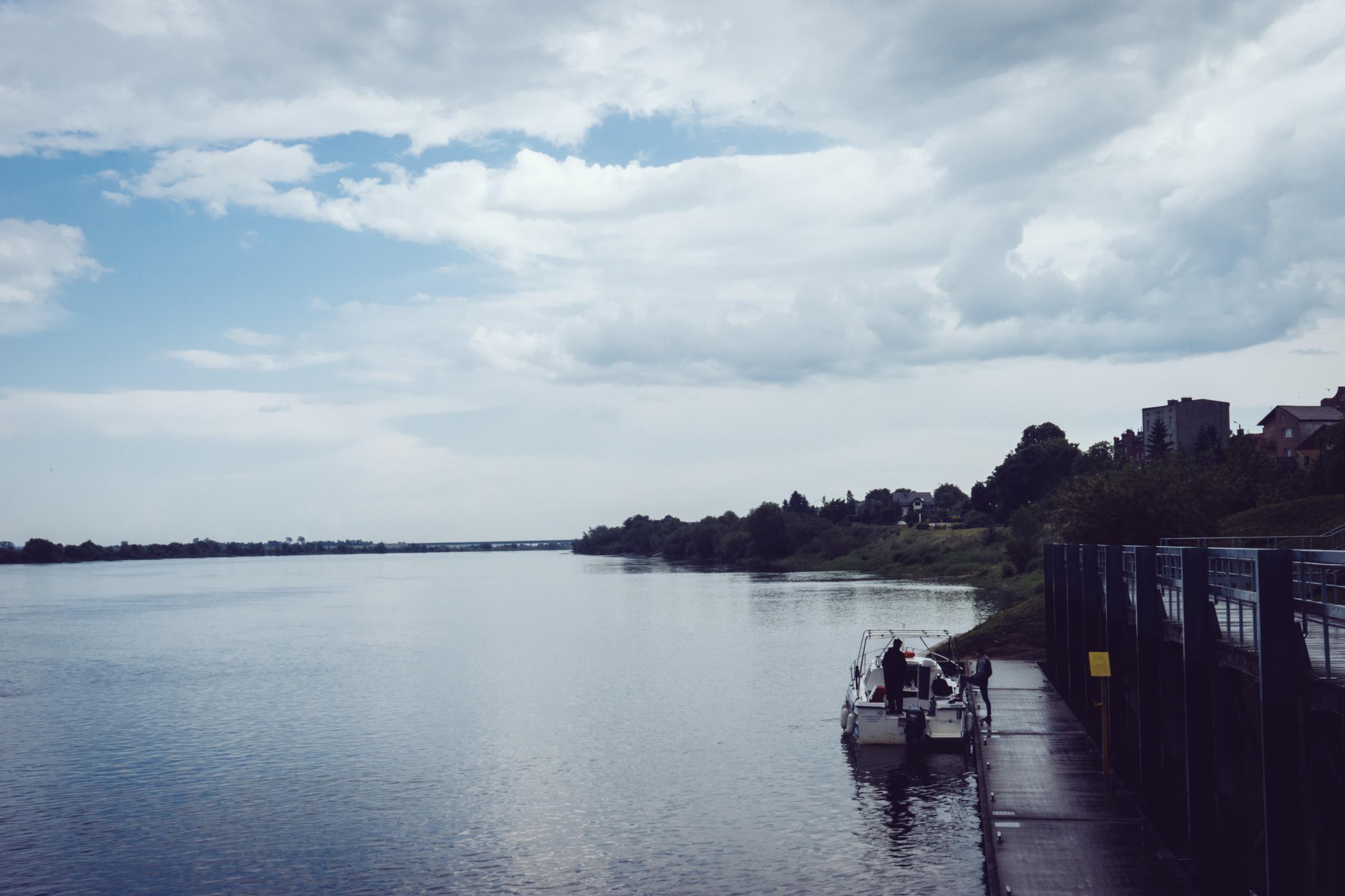 Vue sur la Vistule - Pologne