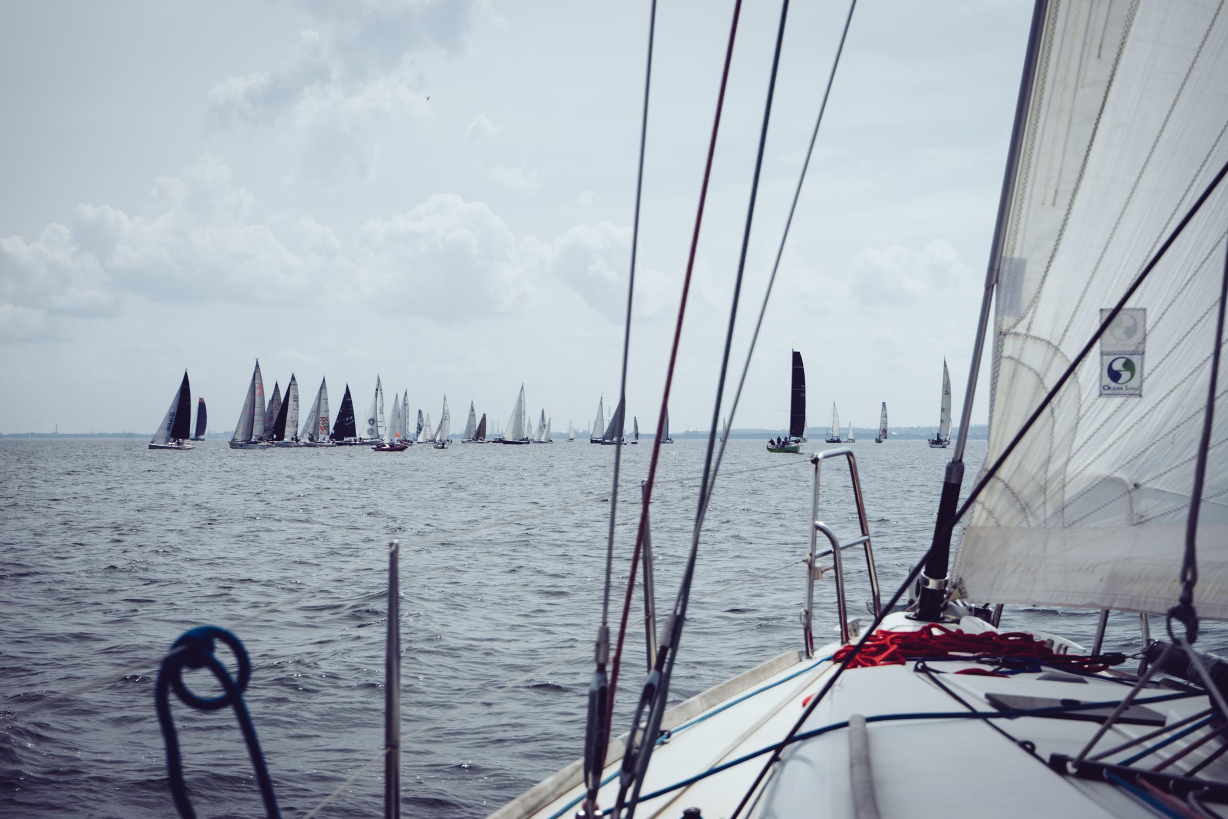 Les voiliers de la Tri-City Sailing Cup sur la mer Baltique - Pologne