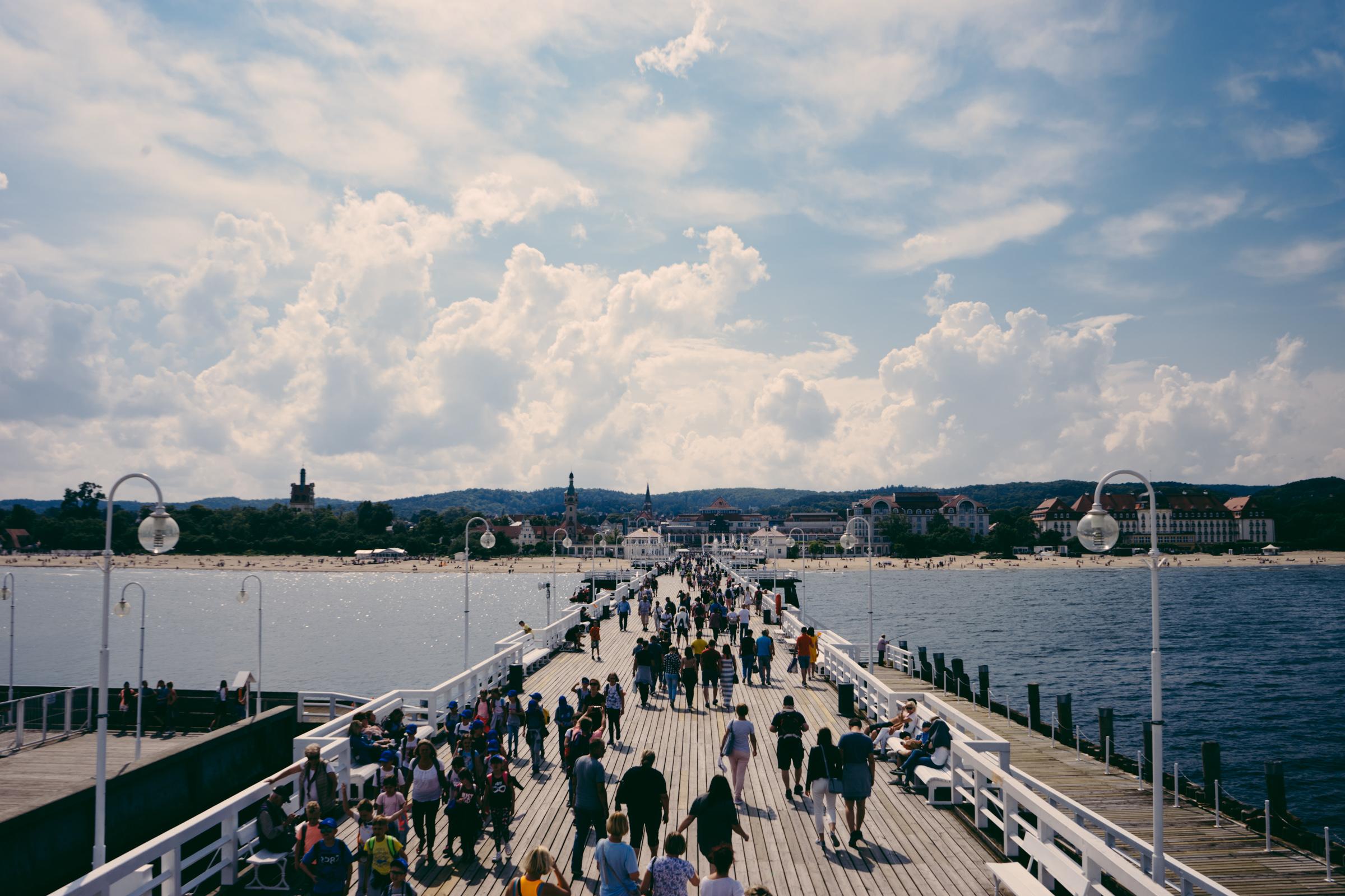 Vue sur la jetée de Sopot - Poméranie - Pologne