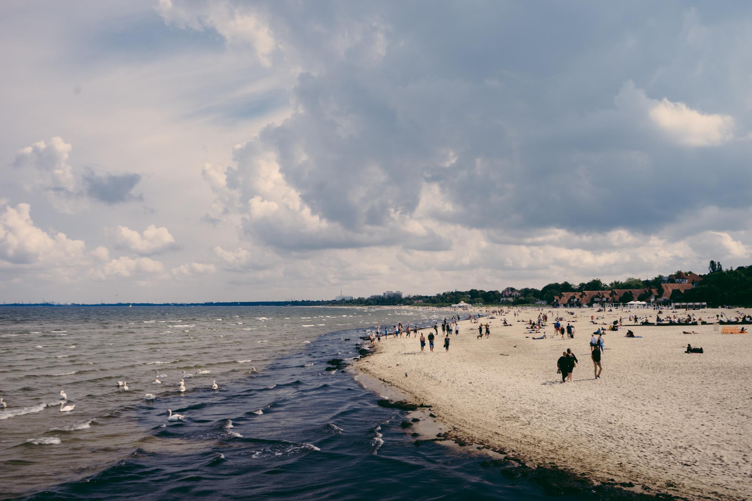 Vue sur la plage de Sopot - Pologne