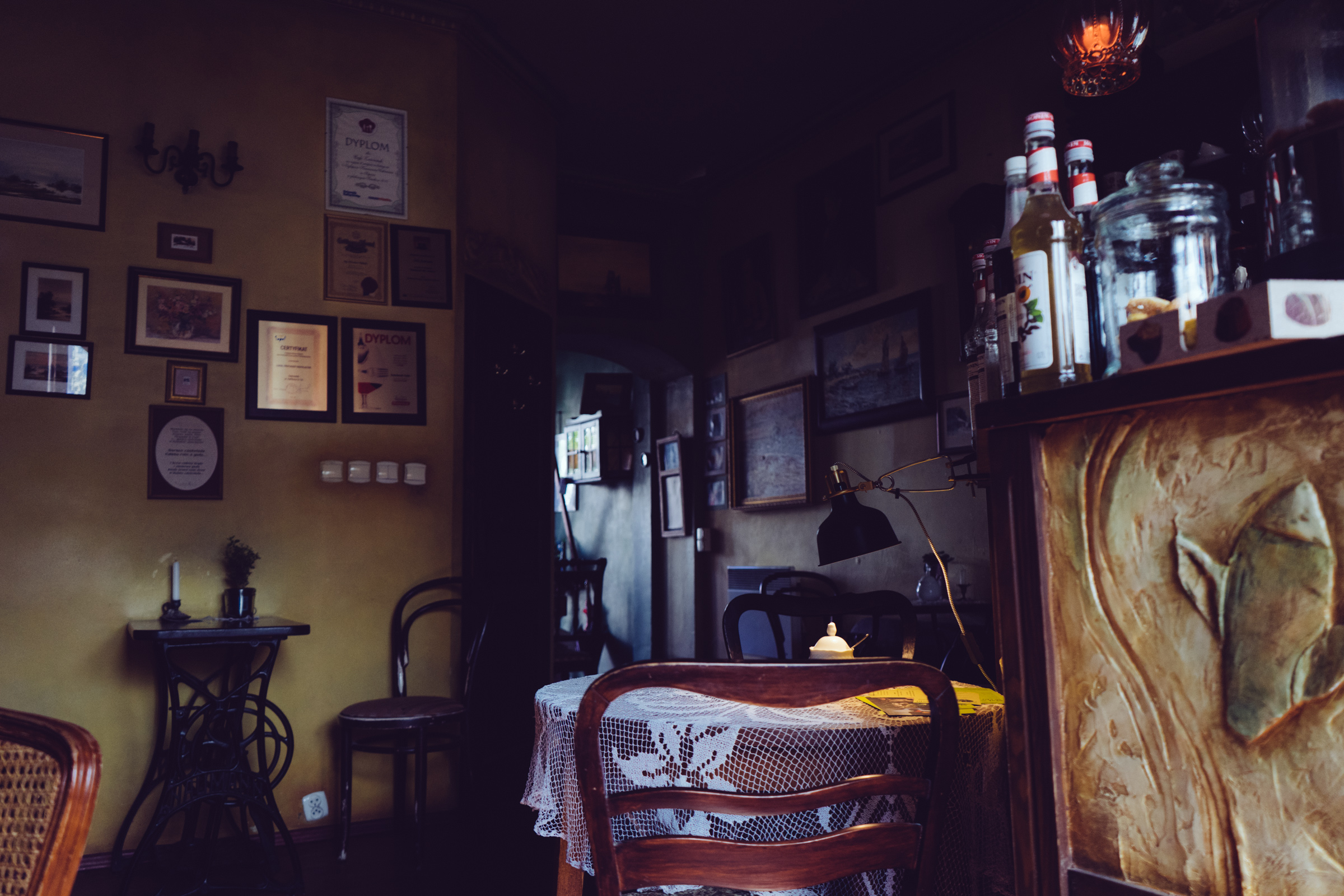 Une ambiance polonaise au Café Zaścianek de Sopot - Poméranie - Pologne