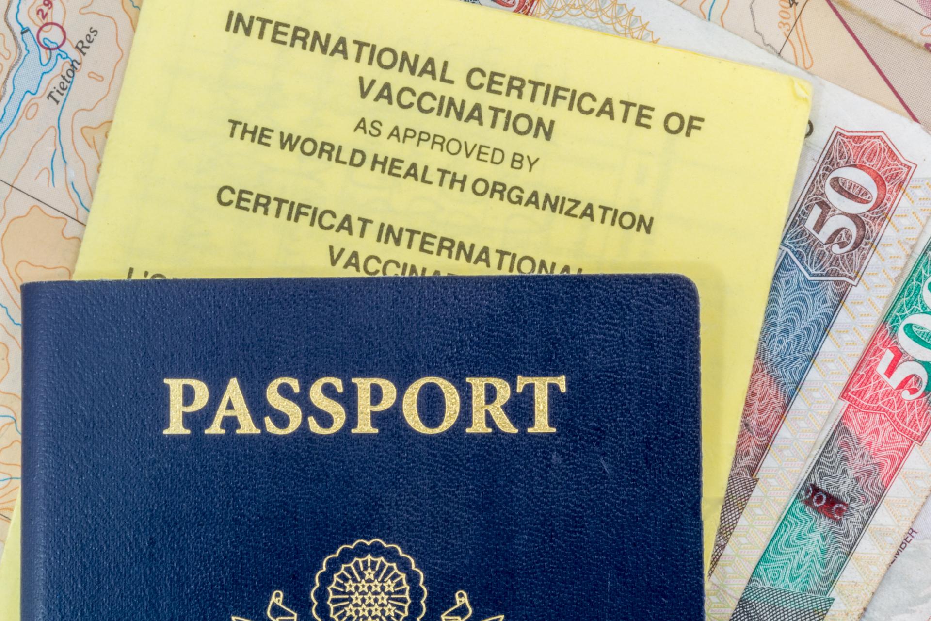 Passeport Carte De Vaccination Et Monnaie Locale Prvoir Avant Le Voyage Photo Shutterstock Par David Fossler