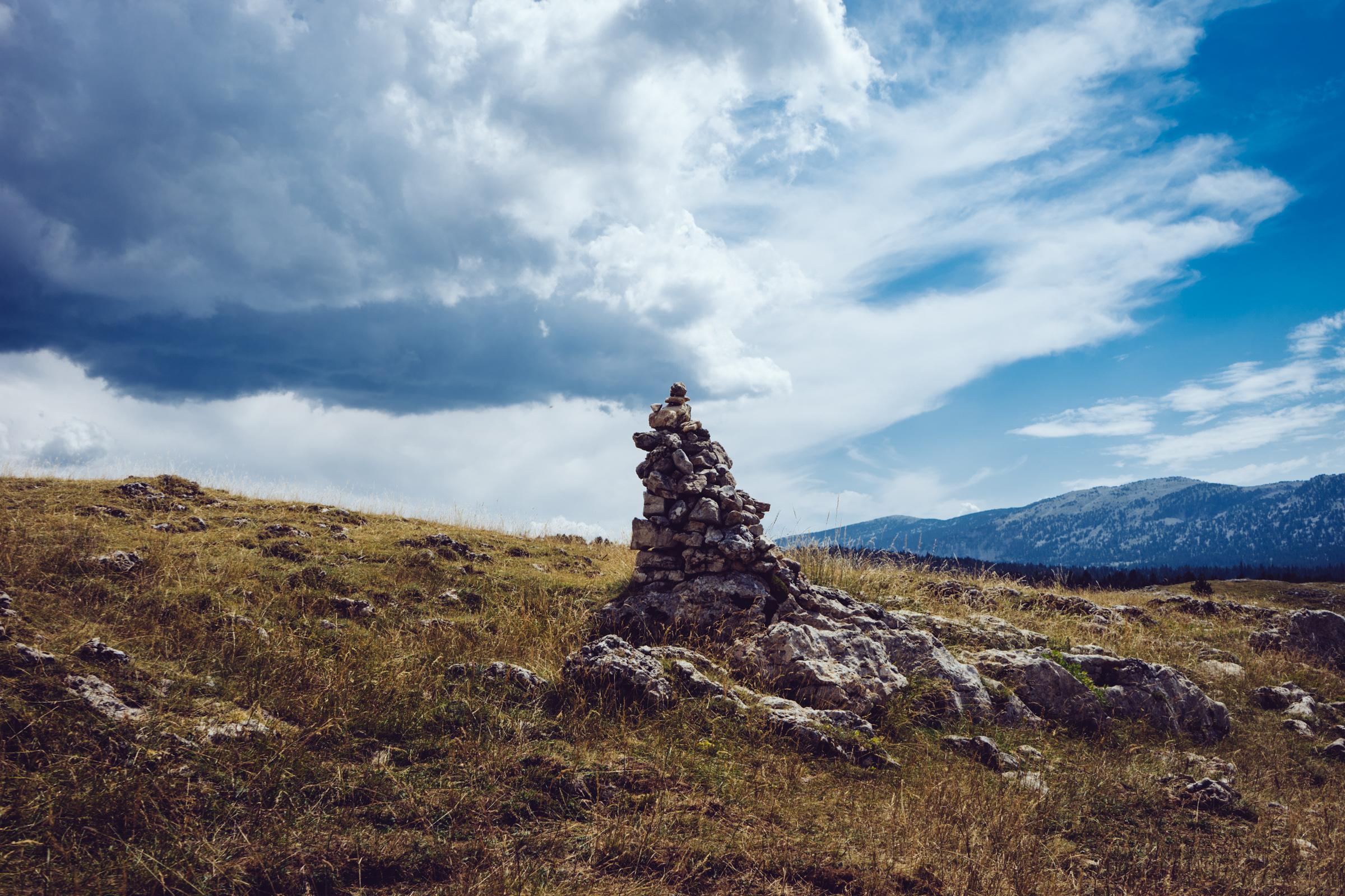 Randonnée sur les hauts plateaux du Vercors - Les cairns