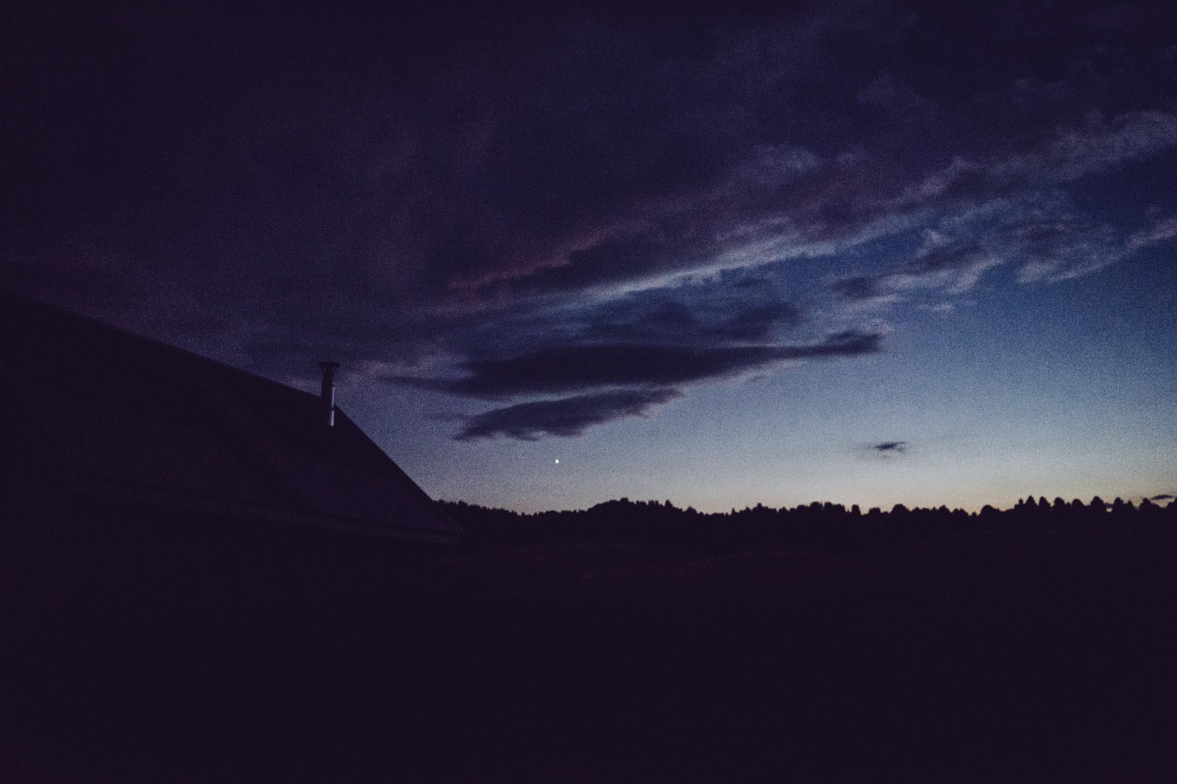 Le ciel la nuit - Etoile - Planète Venus