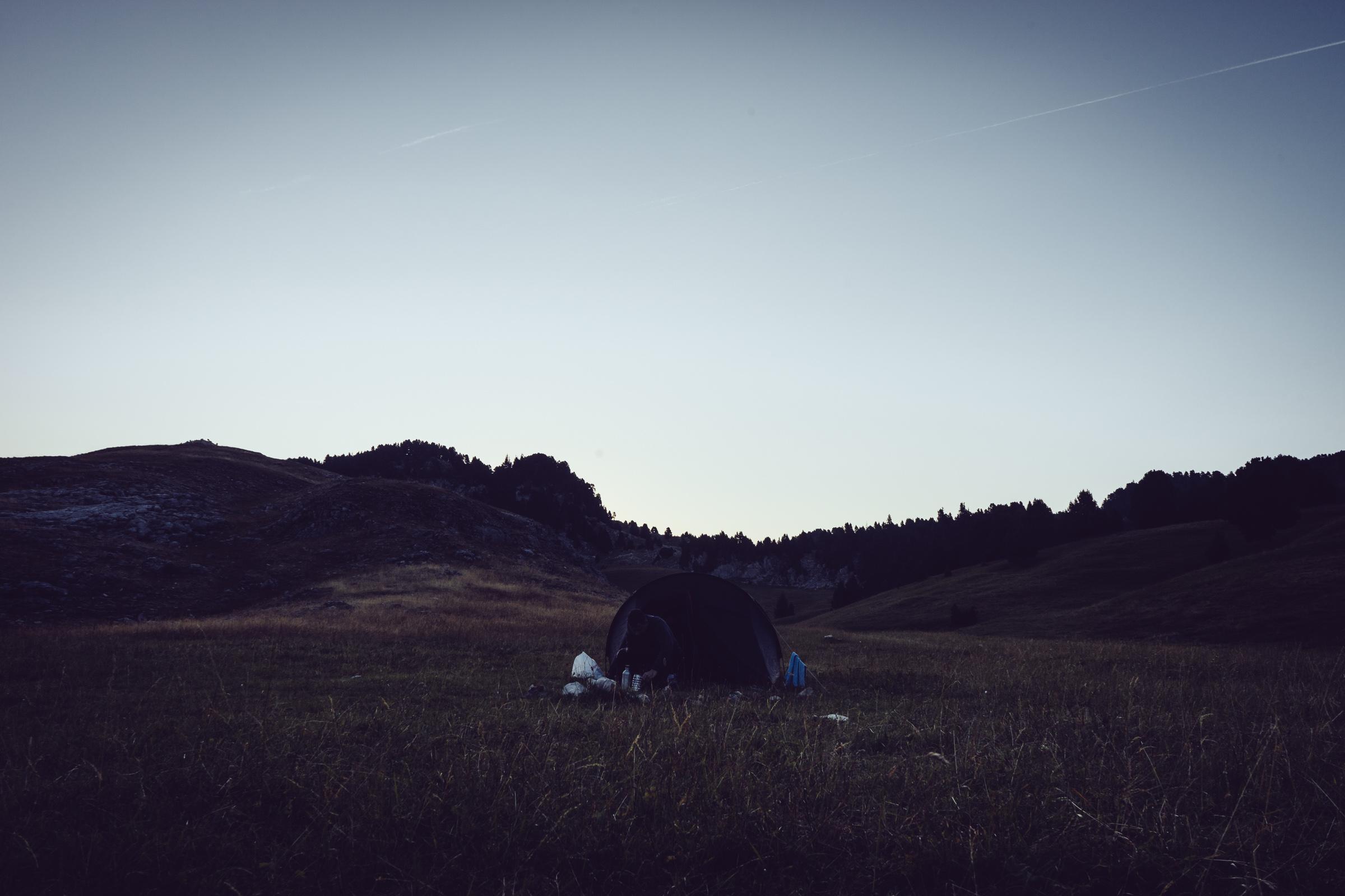 Camping - Bivouac sur les hauts plateaux du Vercors
