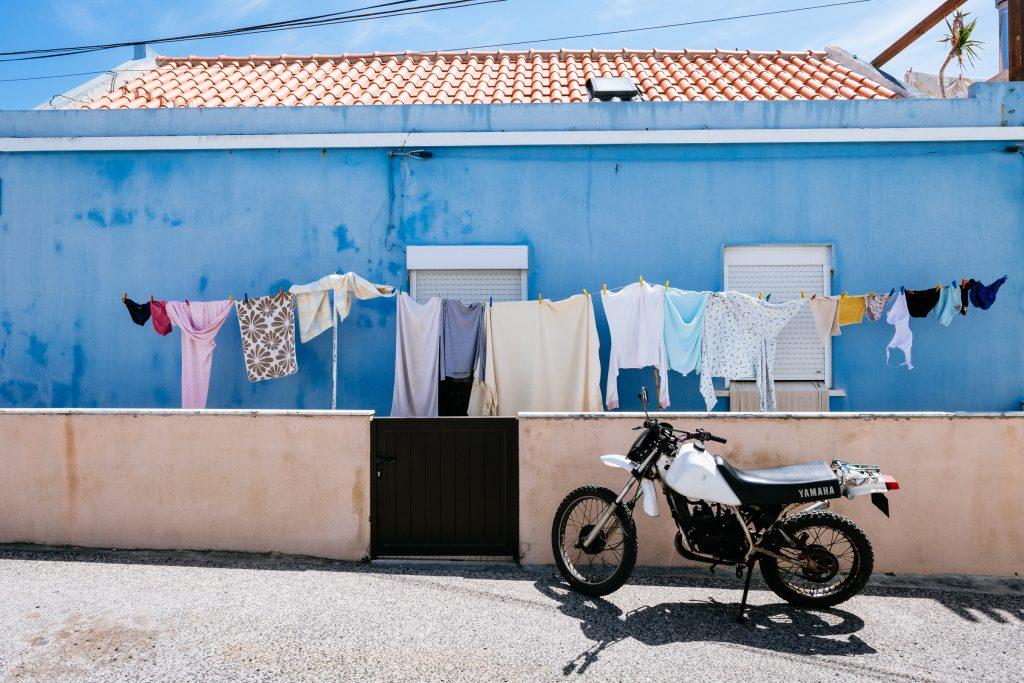 Portugal - Peniche - Visconde - Maison bleue